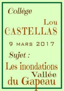Lou Castellas, les inondations