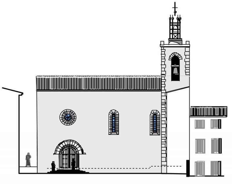 Pignon est, église Saint-Michel