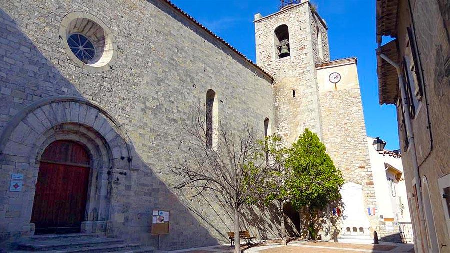 Façade sud, église-Saint-Michel de Solliès-Ville.