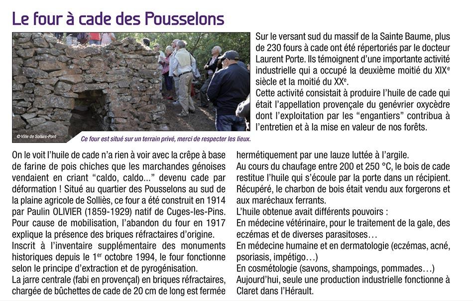 2017-12-17, Coupure : Le four à cade des Pousselons.