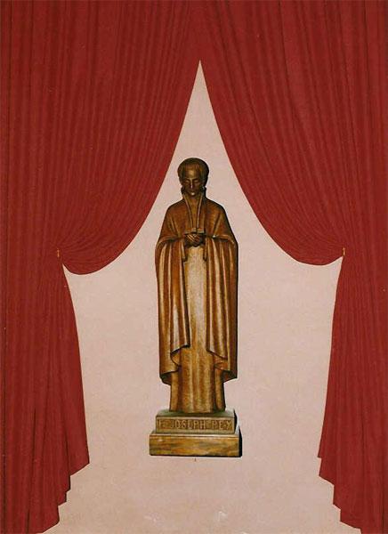 Statue dans la nef latérale droite, église Saint-Jean-Baptiste de Solliès-Pont.