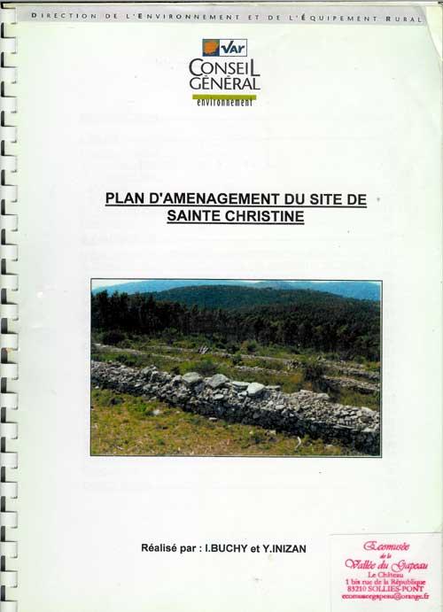 Plan d'aménagement du site de Sainte-Christine, I Buchy et Y. Inizan.
