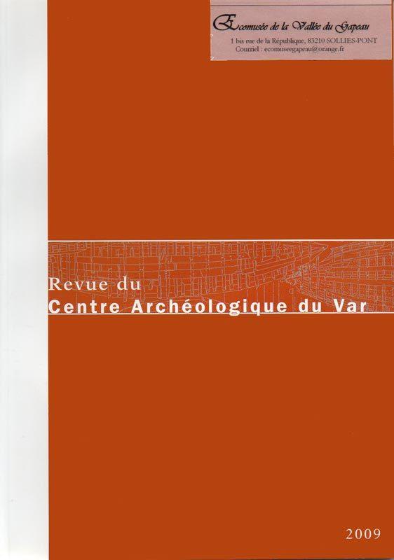 Revue du Centre archéologique du Var 2009.