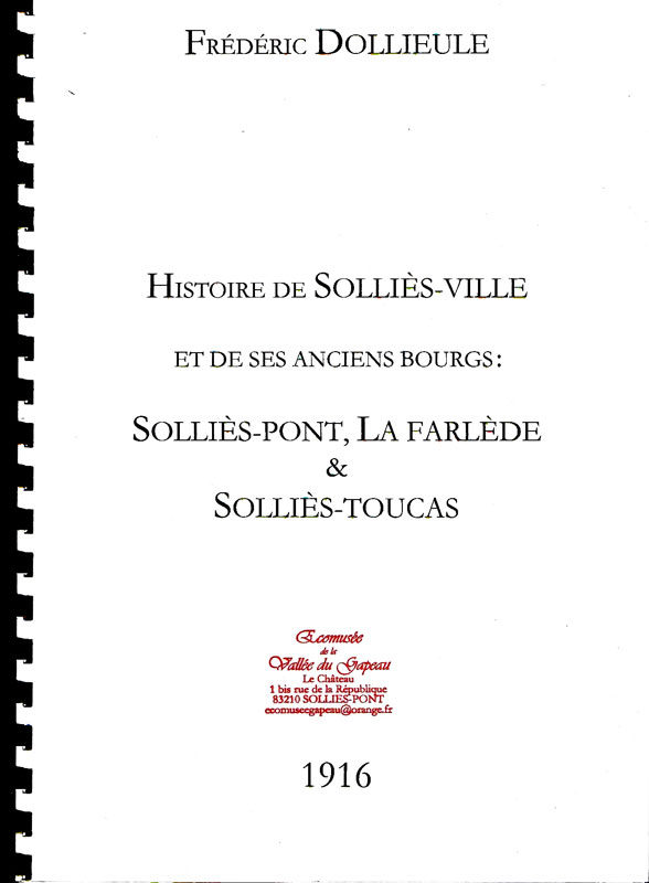 Histoire de Solliès-Ville, Frédéric Dollieule.