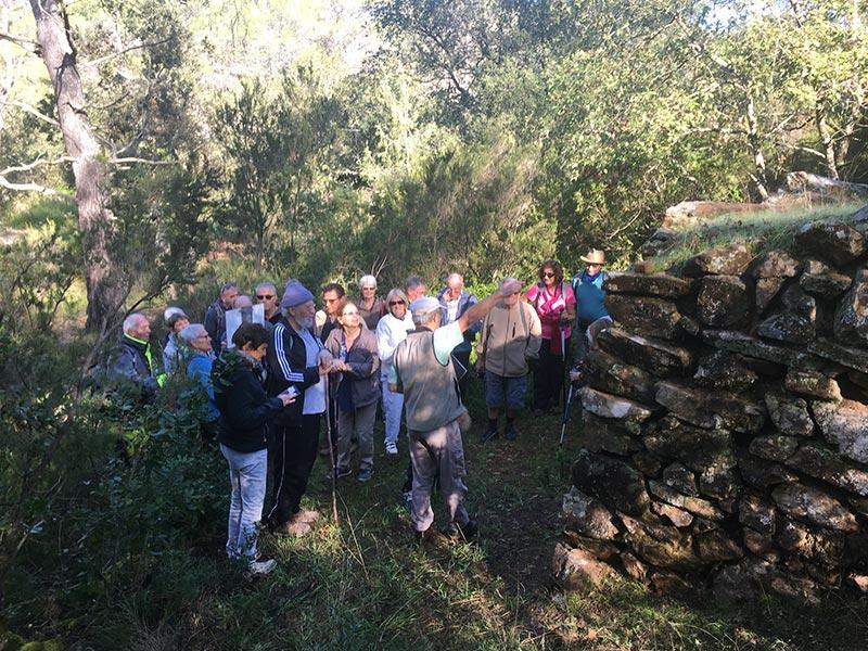 23 novembre 2018, visite commentée du four à cade des Pousselons.