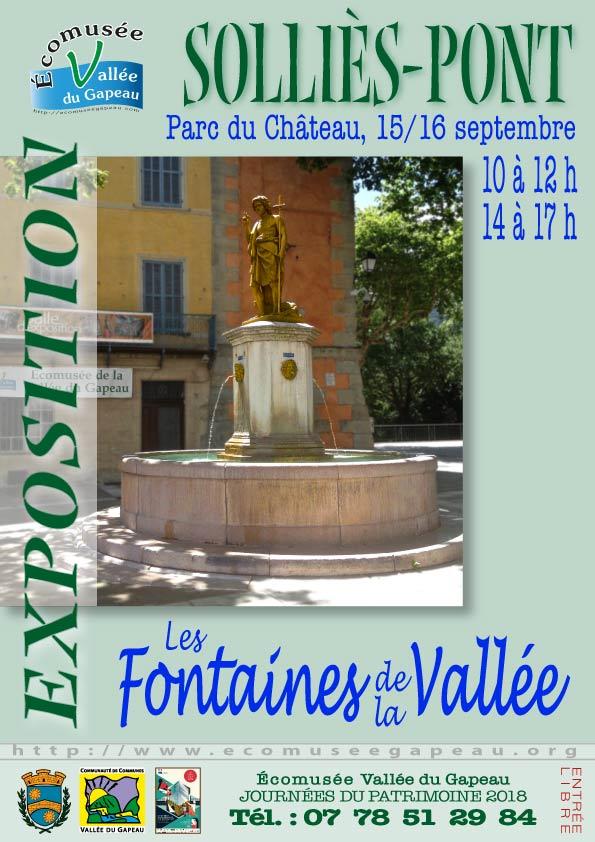 Affichette fontaines de la Vallée.