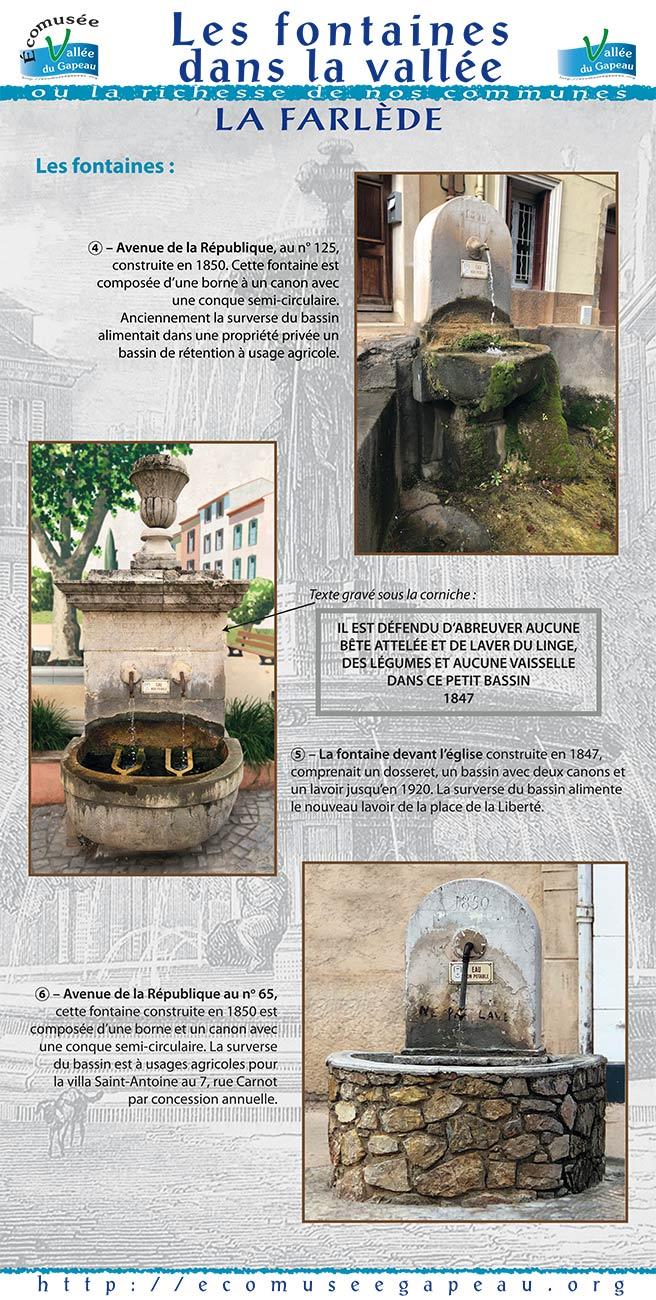 Les fontaines dans la Vallée La Farlède 2