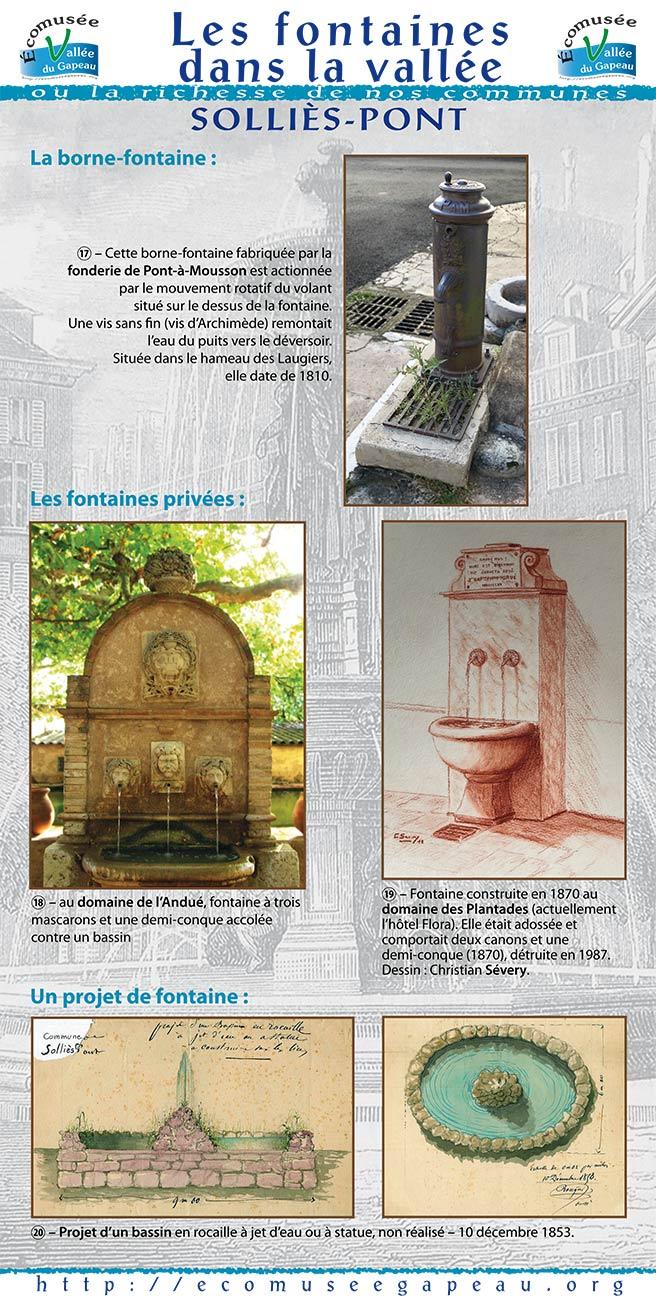 Les fontaines dans la vallée, à Solliès-Pont 5b