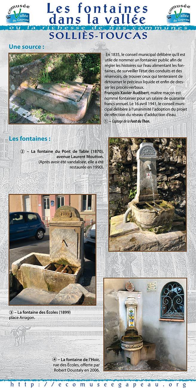Les fontaines dans la vallée, Solliès-Toucas 1.