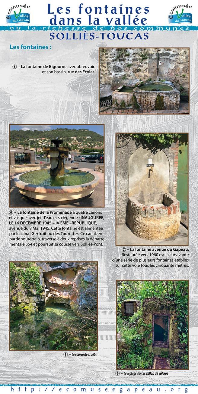 Les fontaines dans la vallée, Solliès-Toucas 2.
