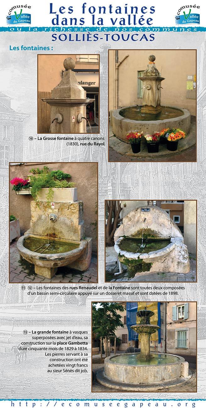 Les fontaines dans la vallée, Solliès-Toucas 3.