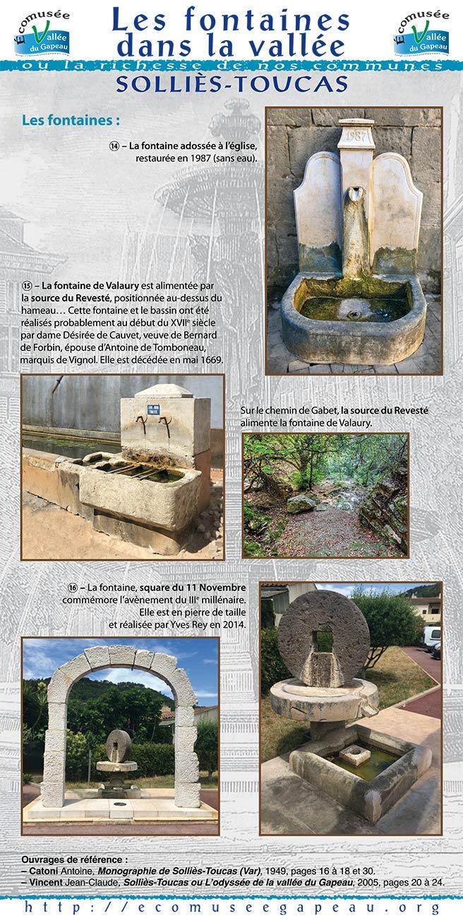 Les fontaines à Solliès-Toucas