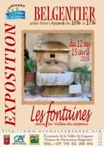 Affichette Belgentier Les fontaines dans la Vallée du Gapeau