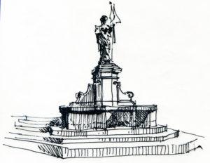 Torcheux Christian, dessin statue.