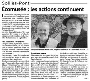 2010-05-31, Coupure, Écomusée : les actions continuent