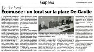 2011-03-01, Coupure : Un local sur la place De-Gaule