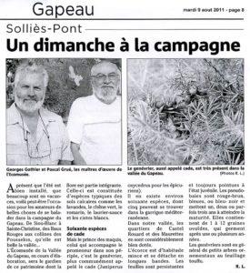 2011-08-09, Coupure : Un dimanche à la campagne