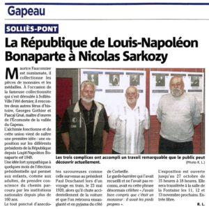 2011-10-00, Coupure : La République de Louis-Napoléon Bonaparte à Nicolas Sarkosy