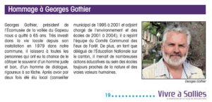 2013-06-00, Coupure, Homage à Georges Gothier