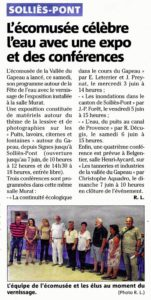 2015-06-02, Coupure : L'Écomusée célèbre l'eau avec une expo et des conférences