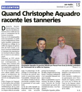 2015-06-12, Coupure : Quand Christophe Aquadro raconte les tanneries