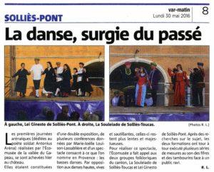 2016-05-30, Coupure : La danse surgie du passé