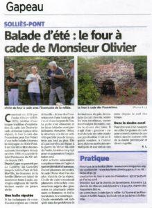 2016-07-28, Coupure : Balade d'été : le four à cade de Monsieur Olivier