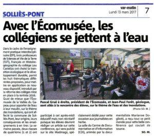 2017-03-13 Coupure, Les collégiens se jettent à l'eau.