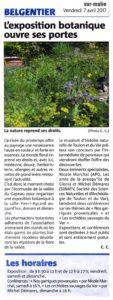 2017-04-072, Coupure : L'exposition botanique ouvre ses portes.