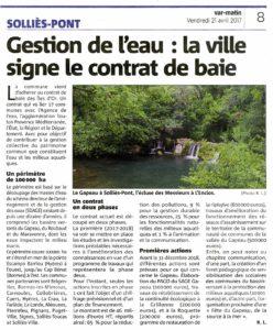 2017-04-21, Coupure : Gestion de l'eau : la ville signe le contrat de baie.
