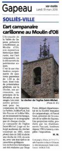 2018-06-19, Coupure : L'art campanaire carillonne au Moulin d'Oli.