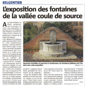 2019-04-13, Coupure : L'exposition des fontaines de la vallée coule de source