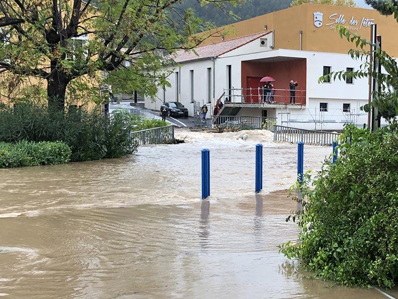 2019-11-23a, Crue à Solliès-Pont