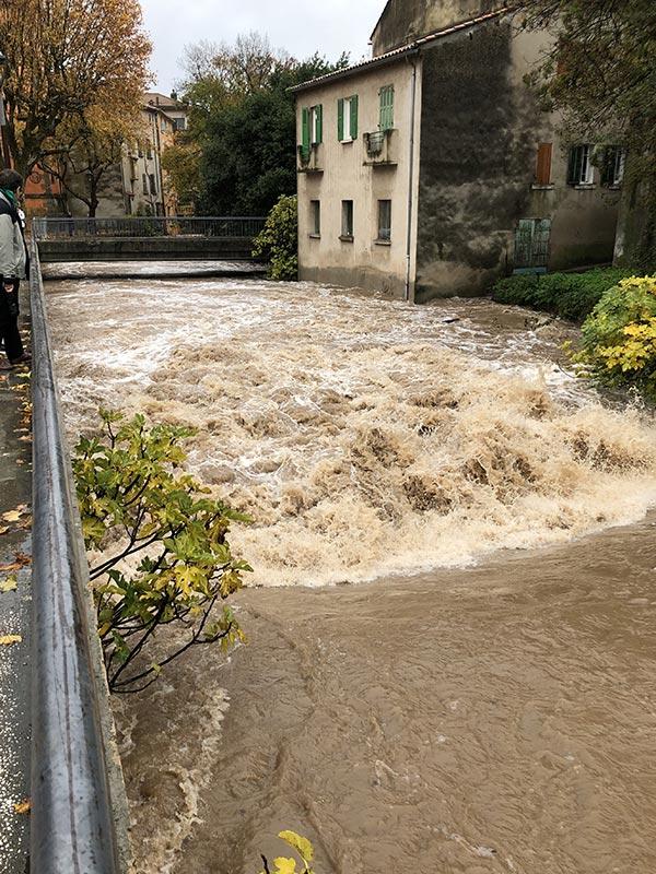 2019-11-23c, Crue à Solliès-Pont