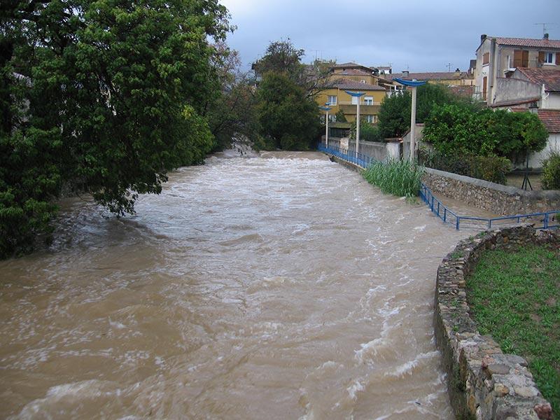 Crue du Gapeau, quartier Saint-Victor, novembre 2011, Solliès-Pont.