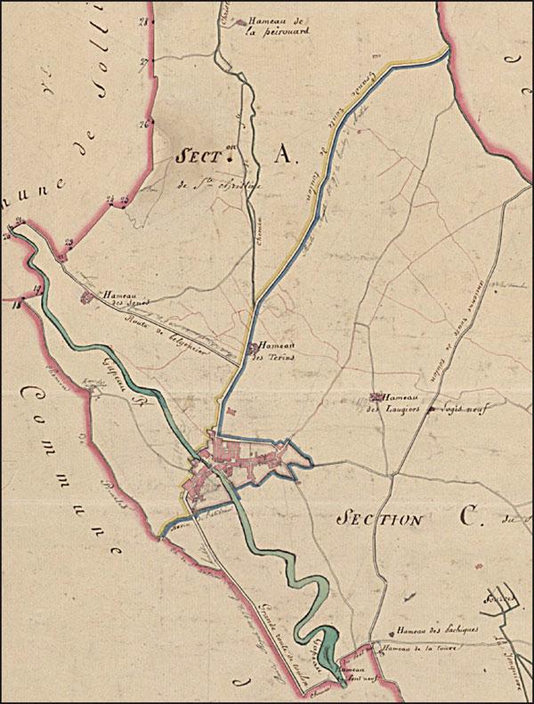 Détail du cadastre ancien de Solliès-Pont.