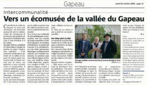 2009-10-29, Coupure : Vers un écomusée de la vallée du Gapeau