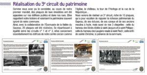 2019-06-00, Coupure : Réalisation du 3e circuit du patrimoine.
