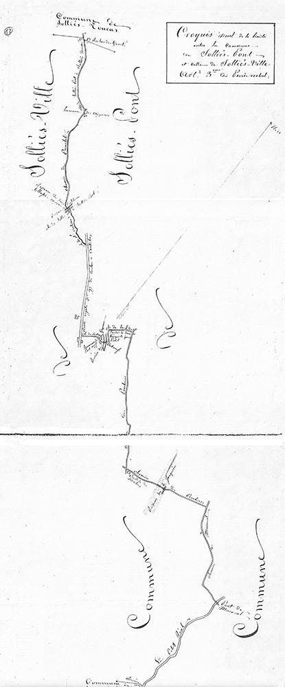 Croquis du bornage de Solliès-Pont, 2 pages.
