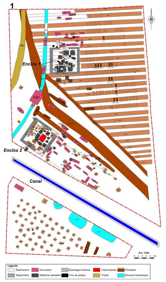 Figure BSR, fouilles des Laugiers Sud.