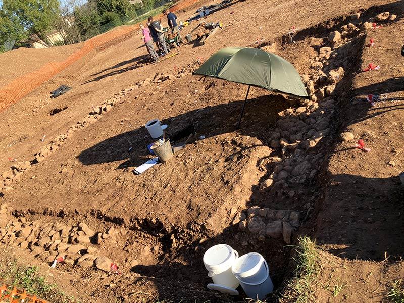 L'enclos numéro 2, fouilles des Laugiers Sud.