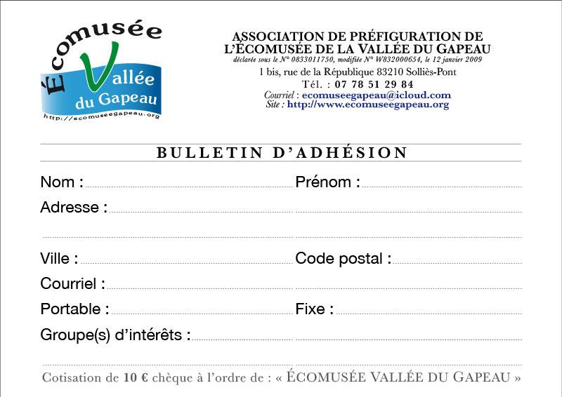 Bulletin d'adhésion (Éco), 2020