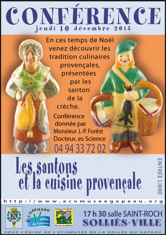 Les santons et la cuisine provençale.