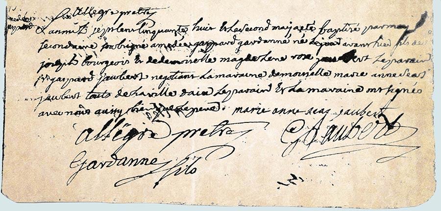 Gaspard Amédée Gardanne, acte de baptême